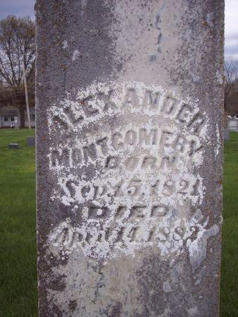 MONTGOMERY, ALEXANDER - Page County, Iowa   ALEXANDER MONTGOMERY
