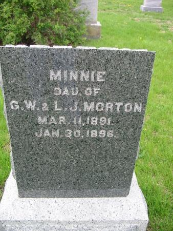 MORTON, MINNIE - Page County, Iowa   MINNIE MORTON