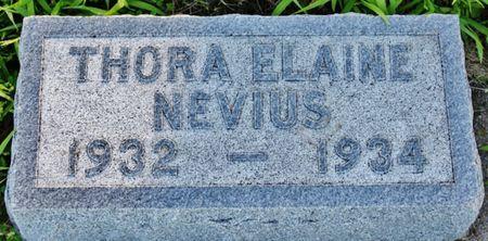 NEVIOUS, THORA ELAINE - Page County, Iowa   THORA ELAINE NEVIOUS