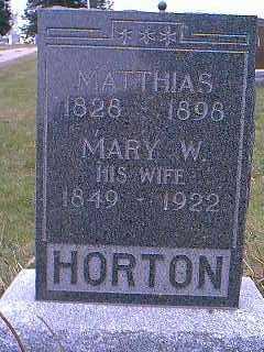 HORTON, MARY W. - Page County, Iowa | MARY W. HORTON