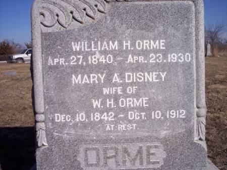 DISNEY ORME, MARY A. - Page County, Iowa | MARY A. DISNEY ORME