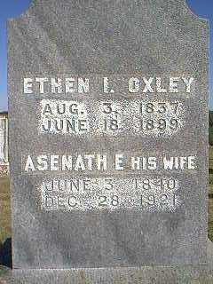 OXLEY, ASENATH E. - Page County, Iowa | ASENATH E. OXLEY