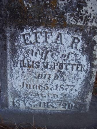 POTTER, EFFA R. - Page County, Iowa | EFFA R. POTTER