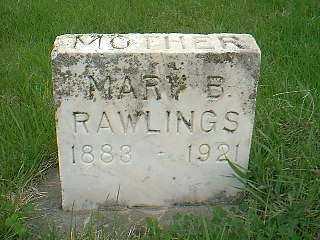 RAWLINGS, MARY B. - Page County, Iowa   MARY B. RAWLINGS