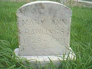 RAWLINGS, MARY ANN - Page County, Iowa | MARY ANN RAWLINGS