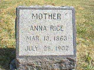 RICE, ANNA - Page County, Iowa | ANNA RICE