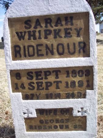 WHIPKEY RIDENOUR, SARAH - Page County, Iowa | SARAH WHIPKEY RIDENOUR