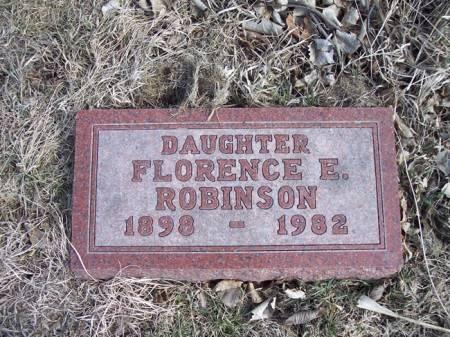 ROBINSON, FLORENCE E. - Page County, Iowa | FLORENCE E. ROBINSON