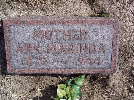 ROYER, ANN MARINDA - Page County, Iowa   ANN MARINDA ROYER