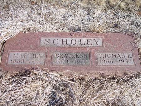 SCHOLEY, THOMAS E. - Page County, Iowa | THOMAS E. SCHOLEY