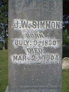 SIMMON, J.W. - Page County, Iowa | J.W. SIMMON