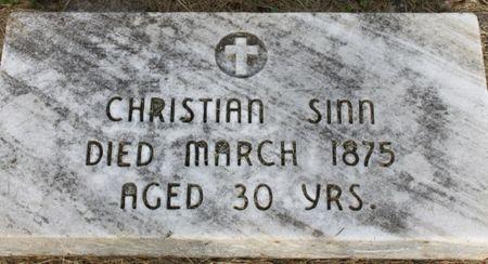 SINN, CHRISTIAN, JR - Page County, Iowa   CHRISTIAN, JR SINN