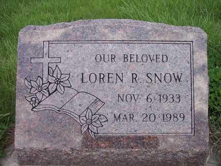SNOW, LOREN R. - Page County, Iowa   LOREN R. SNOW