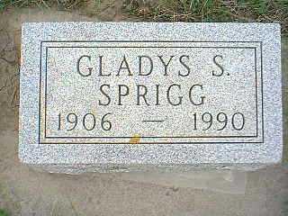 SPRIGG, GLADYS S. - Page County, Iowa | GLADYS S. SPRIGG