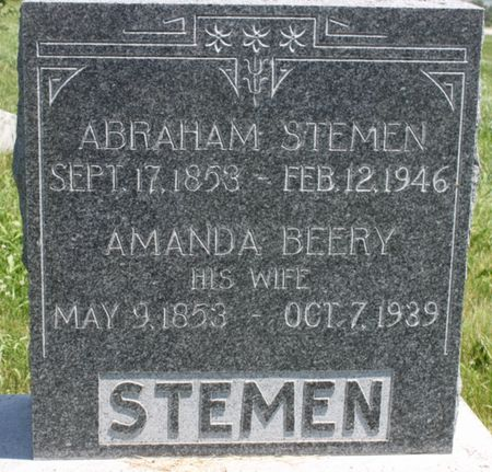 BEERY STEMEN, AMANDA - Page County, Iowa   AMANDA BEERY STEMEN