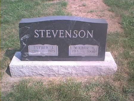 STEVENSON, ESTHER J - Page County, Iowa | ESTHER J STEVENSON