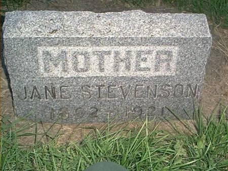 STEVENSON STEVENSON, JANE M - Page County, Iowa | JANE M STEVENSON STEVENSON