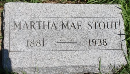 STOUT, MARTHA MAE - Page County, Iowa | MARTHA MAE STOUT
