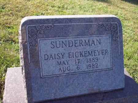 EICKEMEYER SUNDERMAN, DAISY - Page County, Iowa | DAISY EICKEMEYER SUNDERMAN