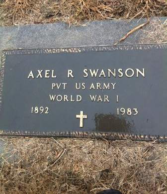 SWANSON, AXEL - Page County, Iowa   AXEL SWANSON