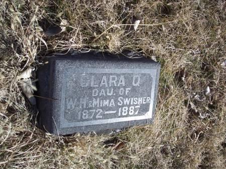 SWISHER, CLARA Q. - Page County, Iowa   CLARA Q. SWISHER