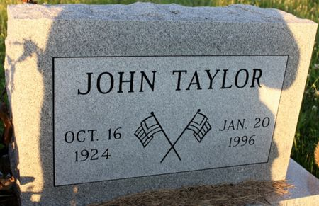 TAYLOR, JOHN W - Page County, Iowa   JOHN W TAYLOR