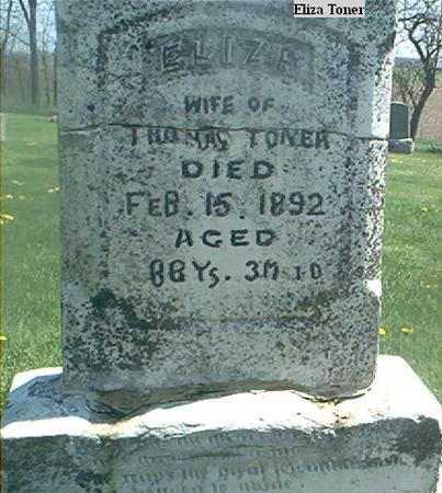 TONER, ELIZA - Page County, Iowa | ELIZA TONER