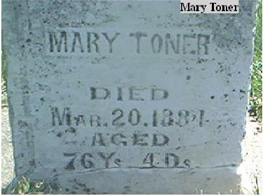 TONER, MARY - Page County, Iowa | MARY TONER