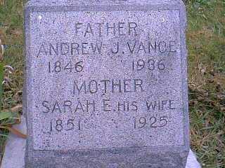 VANCE, SARAH E. - Page County, Iowa   SARAH E. VANCE