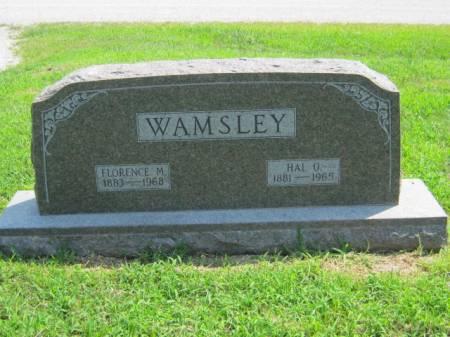 WAMSLEY, FLORENCE M - Page County, Iowa | FLORENCE M WAMSLEY