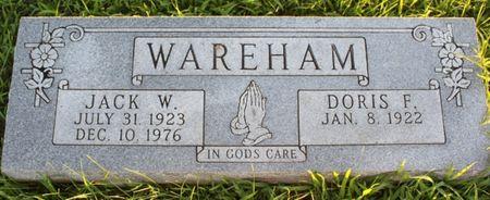 WAREHAM, DORIS F - Page County, Iowa | DORIS F WAREHAM