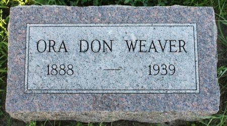 WEAVER, ORA DON - Page County, Iowa   ORA DON WEAVER