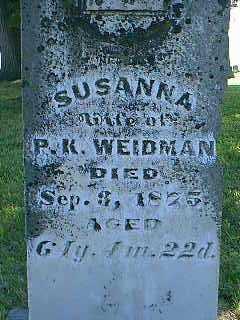 WEIDMAN, SUSANNA - Page County, Iowa | SUSANNA WEIDMAN