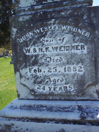 WEIDNER, JOHN WESLEY - Page County, Iowa   JOHN WESLEY WEIDNER