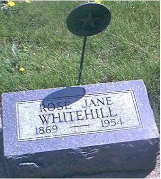 WHITEHILL, ROSE JANE - Page County, Iowa   ROSE JANE WHITEHILL
