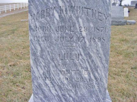 WHITNEY, HARRY - Page County, Iowa   HARRY WHITNEY