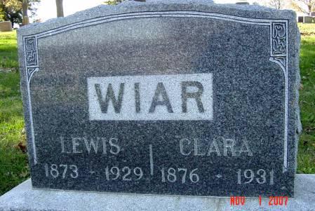 WIAR, LEWIS - Page County, Iowa   LEWIS WIAR