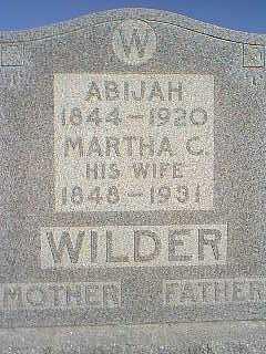 WILDER, MARTHA C. - Page County, Iowa | MARTHA C. WILDER