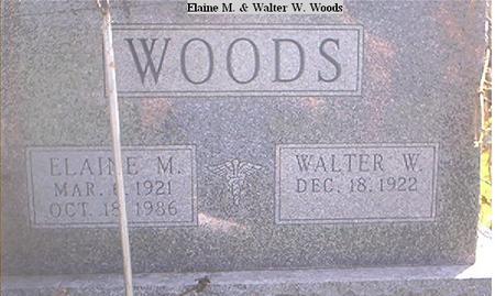 WOODS, ELAINE M. - Page County, Iowa   ELAINE M. WOODS