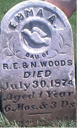 WOODS, EMMA A. - Page County, Iowa | EMMA A. WOODS