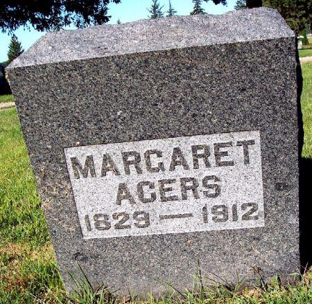 ACERS, MARGARET - Palo Alto County, Iowa   MARGARET ACERS