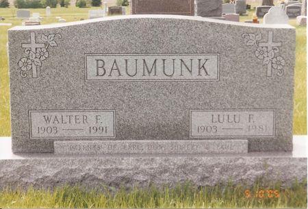BAUMUNK, WALTER FRANKLIN - Palo Alto County, Iowa | WALTER FRANKLIN BAUMUNK