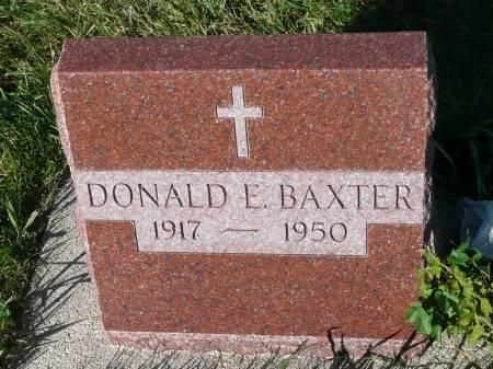 BAXTER, DONALD E - Palo Alto County, Iowa | DONALD E BAXTER