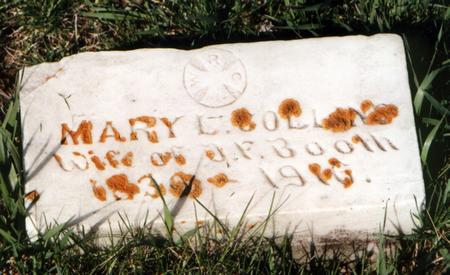 COLLINS BOOTH, MARY - Palo Alto County, Iowa | MARY COLLINS BOOTH