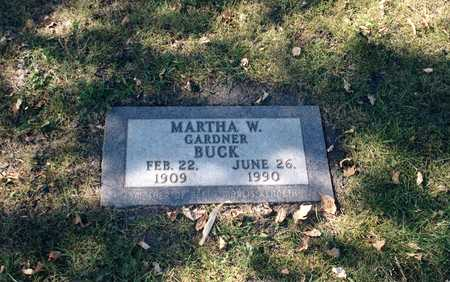 GARDNER BUCK, MARTHA WASHINGTON - Palo Alto County, Iowa | MARTHA WASHINGTON GARDNER BUCK