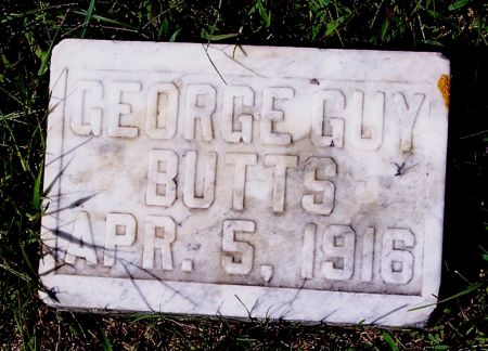 BUTTS, GEORGE GUY - Palo Alto County, Iowa   GEORGE GUY BUTTS