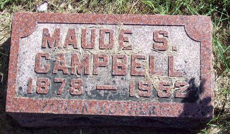 SLATER CAMPBELL, MAUDE S - Palo Alto County, Iowa | MAUDE S SLATER CAMPBELL