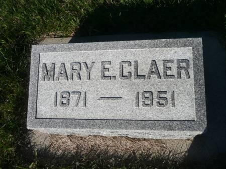 CLAER, MARY E - Palo Alto County, Iowa | MARY E CLAER
