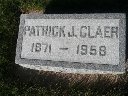 CLAER, PATRICK J - Palo Alto County, Iowa   PATRICK J CLAER