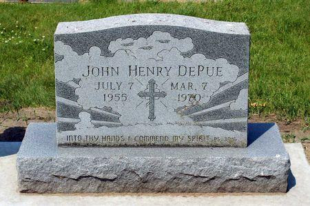 DEPUE, JOHN HENRY - Palo Alto County, Iowa   JOHN HENRY DEPUE